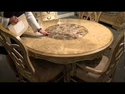 table spinning center designs regal pedestal dining table with lazy susan by a r t