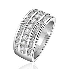 finger rings girls images Top quality silver plated stamped 925 fashion jewelry three line jpg