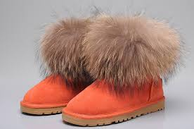 uggs on sale size 5 promotion sale uk ugg fox fur mini boots 5854 orange gs11 k1814
