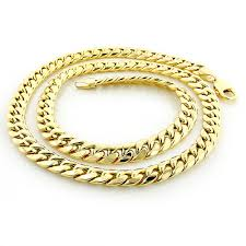 mens gold curb necklace images Mens 14k yellow gold miami cuban link curb chain 8mm wide 22in jpg