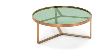 Novelty Coffee Tables by Aula Coffee Table Brushed Copper And Green Glass Made Com