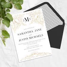 Monogram Wedding Invitations Great My Wedding Invitation My Wedding Day Olivias Life Instances