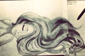 valentina botero mermaid drawing