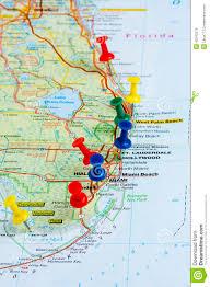 Key Largo Florida Map by Pushpin Florida Map Pushpins Stock Photo Image 42342579