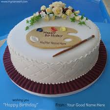write name on birthday cake image with his her name wishes