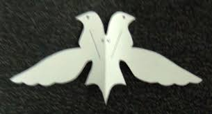 paper dove bird ornament 4 steps