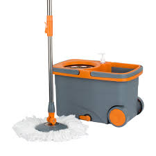Rubbermaid Mops Walmart by Casabella Spin Cycle Mop With Bucket Microfiber Graphite Orange