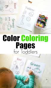 free color coloring pages toddlers