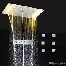 2017 led light shower set with reccessed ceiling function