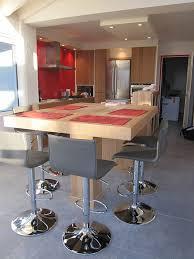 cuisine avec bar table bar table cuisine idées de design moderne newhomedesign