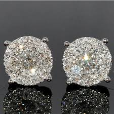 large stud earrings stud earring 1 85ctw xl big cluster large solitaires 11mm