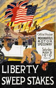 auto painting 1919 indianapolis 500 poster by john farr