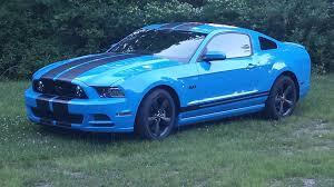 Blue And Black Mustang 2013 Grabber Blue Gt Svtperformance Com