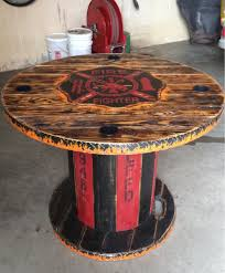 wooden spool firefighter table my creations cool spool crafts co