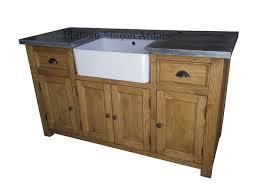meuble de cuisine evier meuble sous evier 4 portes en pin massif