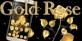 Golden Roses Black Golden Rose Theme Android Apps On Google Play