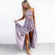 light purple long dress floor length prom party dress light purple halter with
