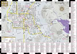 Las Vegas Zip Codes Map by Streetwise Las Vegas Map Laminated City Center Street Map Of Las