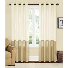 Grommet Burlap Curtains Living Room Curtains 20 Per Panel At Walmart Yoshino