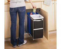 Kitchen Recycling Bins For Cabinets Garbage Bins Under Sink Under Counter Pull Out Recycle