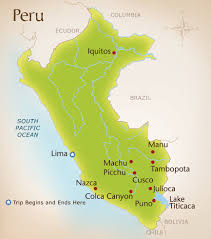 Map Of Peru South America by Wild Planet Adventures Peru