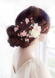 hair flower bridal hair clip flower wedding hair accessories burgundy