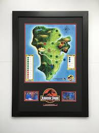 Jurassic Park Map Jurassic Park 1993 Prop Visitor Map Moviemania Genuine