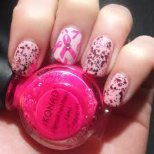 lou is perfectly polished breast cancer awareness nail art