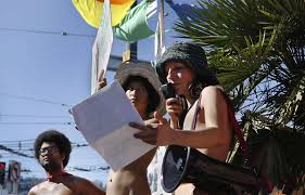 nudists march in san francisco streets for s parade sfgate