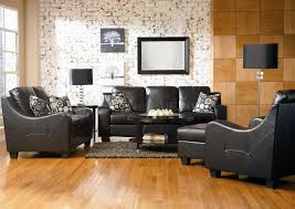 The Brick Leather Sofa Living Room Modern Living Room Decoration With Black Leather Sofa