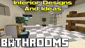Cool Furniture In Minecraft by Minecraft Modern Bathroom
