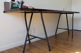 Diy Trestle Desk Diy Door Desk à La Mode