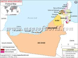 map of the uae uae political map travel maps and major tourist attractions maps