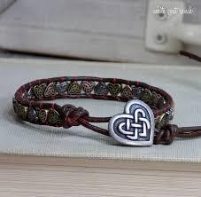 red bracelet thread images Celtic heart knot leather bracelet red thread jpg