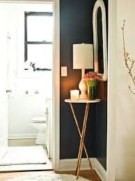Corner Tables For Hallway Small Home Uses Every Available Space For Storage And Adding