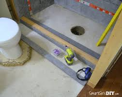 How To Build A Bench In A Shower How To Build A Shower Installing A Filler Piece For The Back Of