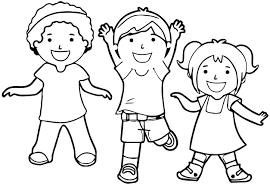 attractive design coloring pages of kids children cecilymae