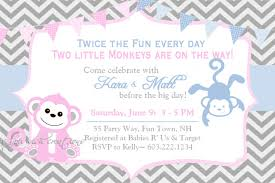 Invitation Card For Baby Top 15 Baby Shower Invitations For Twins For You Thewhipper Com