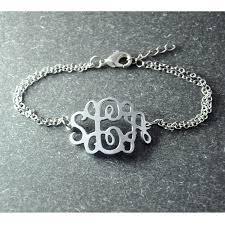 Monogram Bracelet Silver Monogram Bracelet 3 Initial Jewelry Customized Bracelet Initial