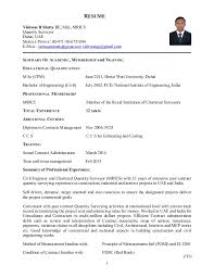 Diploma In Civil Engineering Resume Sample by Resume Quantity Surveyor