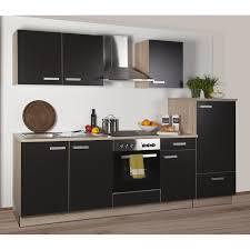 K Henzeile Komplett Küchenzeile Litra 270 Cm Lava Melamin Sonoma Eiche Kühlschr