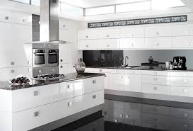 Black And White Contemporary Kitchen - seamless high gloss furniture material scratch resistant u0026 stylish