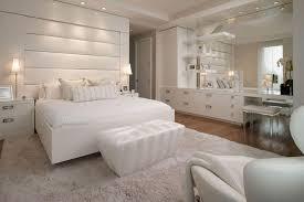 white bedroom design white wooden platform bed grey lounge resting