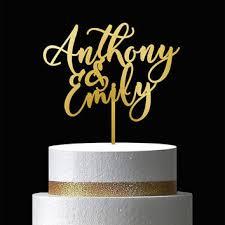 gold cake topper mr and mrs cake topper wedding cake from vilowoodstuff on etsy