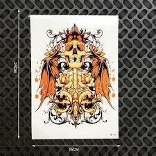 bat wings king leoric designs temporary henna 3d