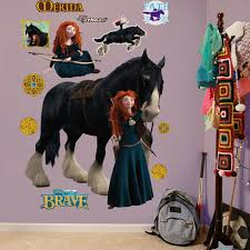 merida angus in brave wallpapers fathead brave merida and angus wall graphic
