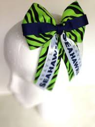 seahawk ribbon 6 seattle seahawks cheer bow with attached pony holder seahawks