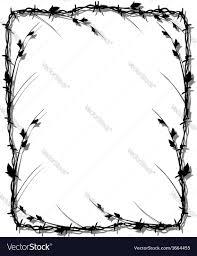 halloween border vector barbed wire border royalty free vector image vectorstock