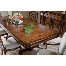 stanley pedestal dining table stanley arrondissement famille pedestal table in heirloom cherry