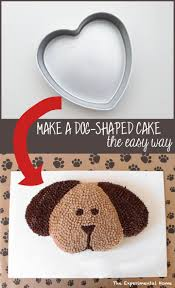 the easy way to make a dog shaped cake would need to turn head